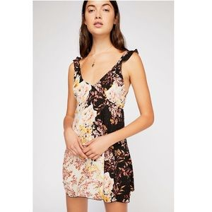 Free People🌺intimately floral slip dress🌼size m